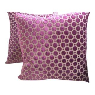 "Magenta ""Geo"" Design Pillows - a Pair For Sale"