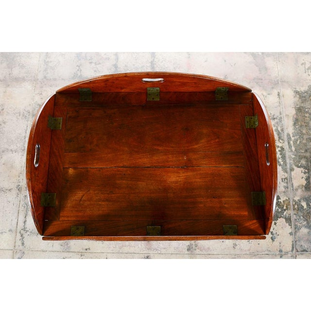 Mid 19th Century 18th C. Georgian Mahogany Butler's Tray Table For Sale - Image 5 of 8