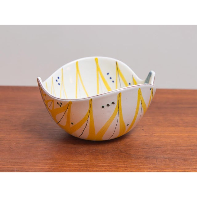 Mid-Century Modern 1950s Stig Lindberg for Gustavsberg Faience Leaf Bowls - a Pair For Sale - Image 3 of 11