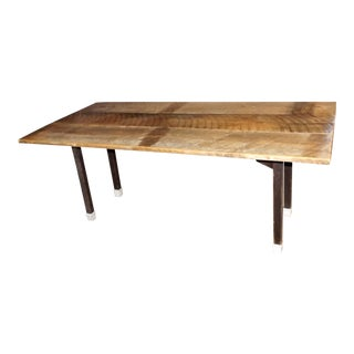 Recycled Old Barn Wood Maple Farm Kitchen Table