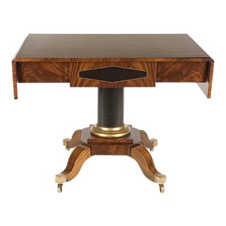 Biedermeier Tetris Drop Leaf Sofa Table For Sale