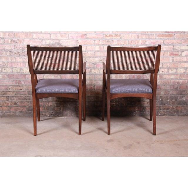 John Van Koert Mid-Century Modern Restored Walnut Dining Chairs, Set of Ten For Sale - Image 12 of 13