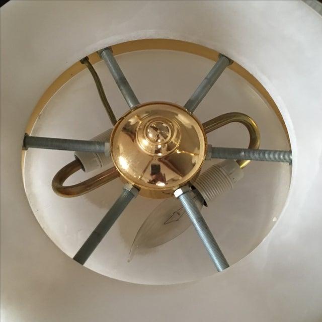 Polished Brass & Alabaster Chandelier - Image 9 of 10