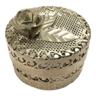 Metal Cylinder Decorative Box With Lid For Sale