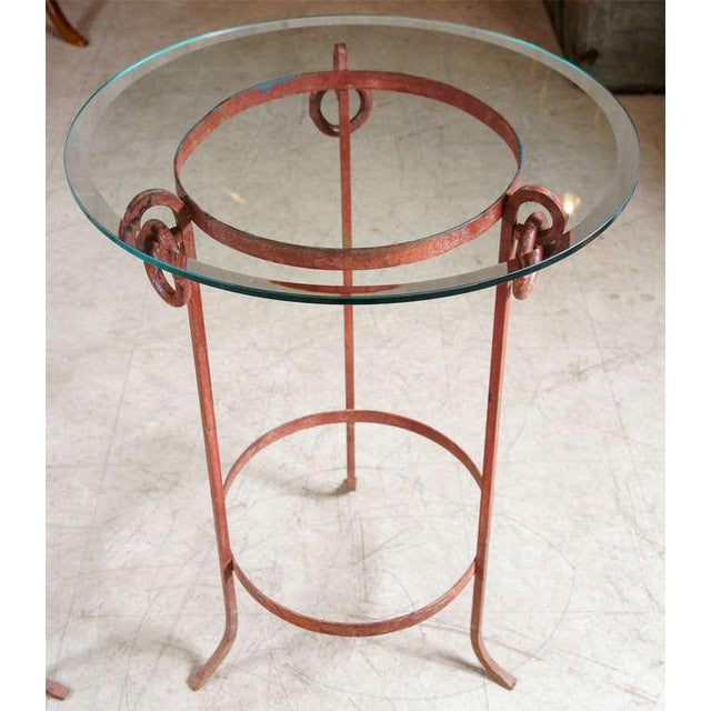 Neoclassical Wrought Iron End Tables - A Pair For Sale - Image 3 of 7