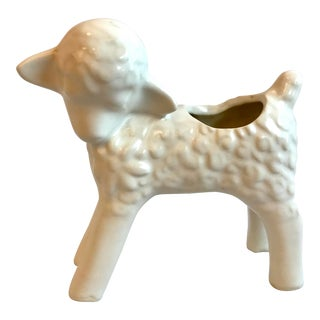 Vintage Mid Century Baby Lamb Planter For Sale