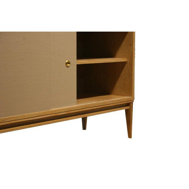 Customizable Bishop Lacquered Linen Door Console For Sale - Image 10 of 10