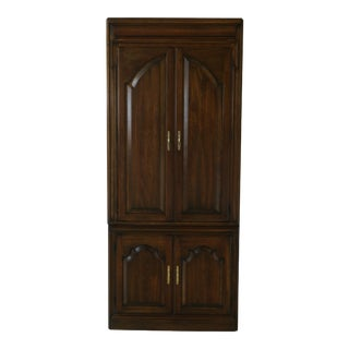 Harden 2 Piece Cherry Bar Cabinet W. 4 Doors For Sale