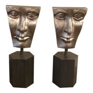 Heavy Cast Iron Bookends or Room Accents - a Pair For Sale