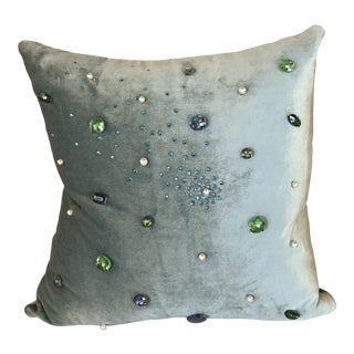The Number One Stunner Pillow by Velour Willington For Sale