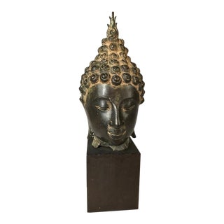 Thai Bronze Head of the Buddha For Sale
