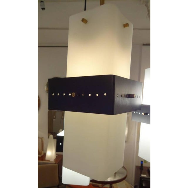 Mid-Century Modern Stilnovo Mobile Shaped Mid-Century Chandelier, Italy circa 1960 For Sale - Image 3 of 10