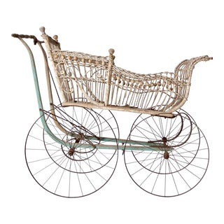 Victorian Wicker Carriage For Sale