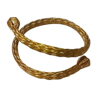 Braided Mesh Gold Filled Bracelet For Sale