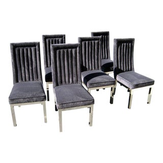 Set of Six Channel-Back Dining Chairs by Hill Manufacturing Co. C. 1980s For Sale