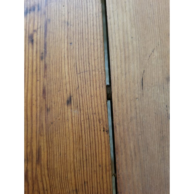 Antique Pine Farm Table For Sale - Image 12 of 12