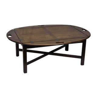 Wooden Oval Butler's Tray Table For Sale