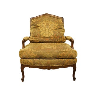 Late 20th Century cLouis XVI French Style Accent Arm Chair For Sale