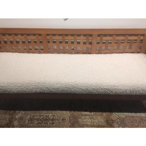 White Vintage 1970's Scandinavian Sofa For Sale - Image 8 of 12