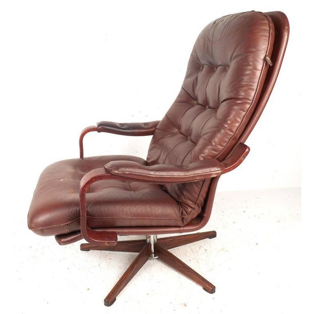 "Mid-Century ""Kropp Stolen Original"" Lounge Chair & Ottoman - Image 3 of 10"