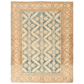 Antique Tabriz Persian Geometric Rug - 4′3″ × 5′7″ For Sale