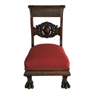 Ca. 1820 Empire Low Chair For Sale