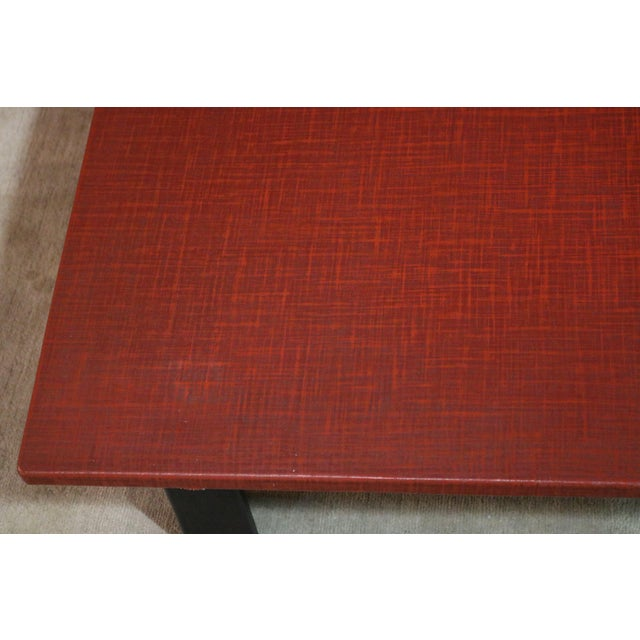 1940s 1940s Japanese Red Lacquer Coffee Table For Sale - Image 5 of 6
