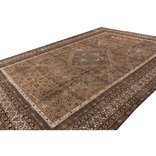 "Textile Antique Mahal Rug, 9'6"" X 13'4"" For Sale - Image 7 of 10"