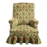 Image of Antique French Edwardian Style Velvet Slipper Armchair, Ca 1910 For Sale