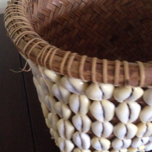 Vintage Woven Shell Basket - Image 7 of 11