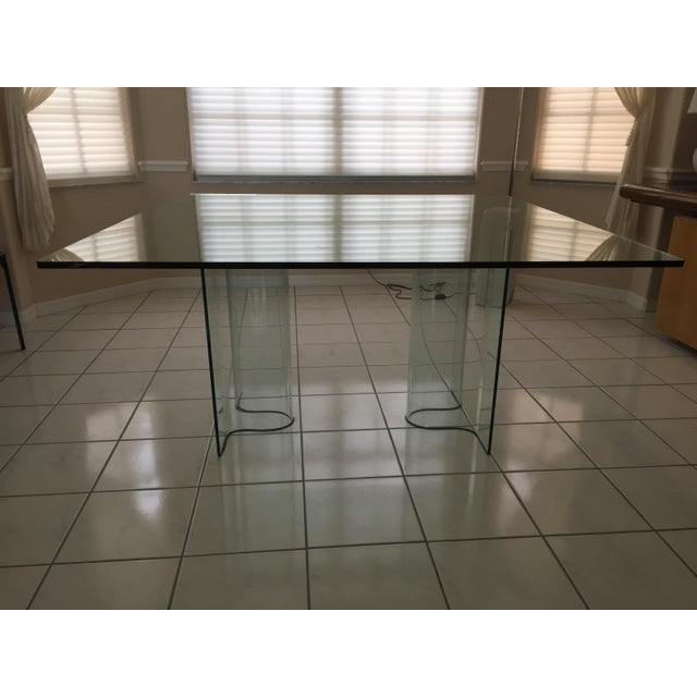 1980s Fiam Italia Glass Dining Table - Image 3 of 3