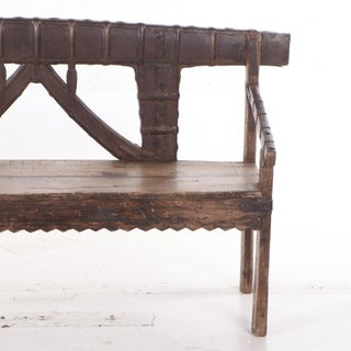 Early 20th Century Antique Indian Teak and Metal Bench Preview