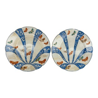 19th Century Japanese Imari Arita Plates - a Pair For Sale