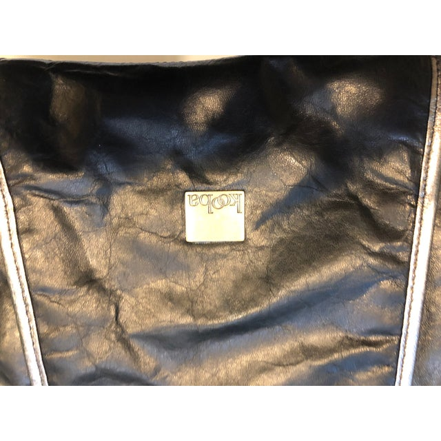 2010s 1980s Style -- New Kooba Oversized Black Leather Clutch For Sale - Image 5 of 8
