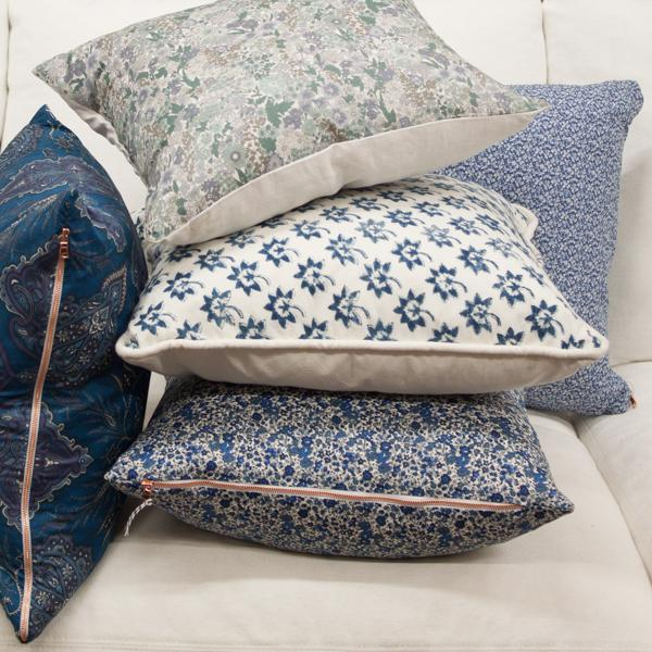 Les Indiennes Fabric Pillow Cover - Image 5 of 5