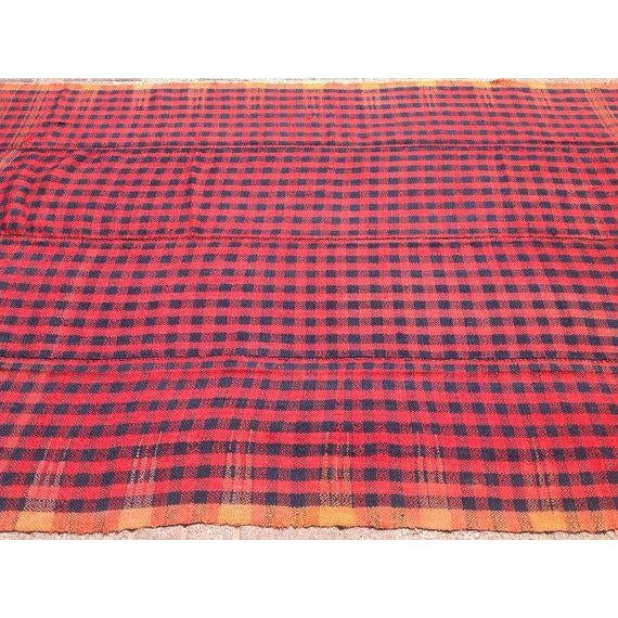 Vintage Hand Made Throw Blanket For Sale - Image 4 of 6