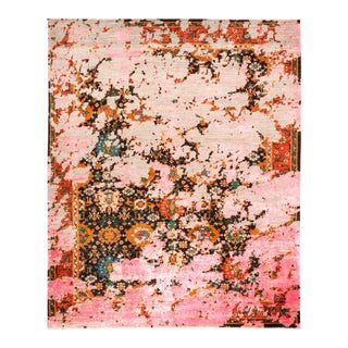 """Eclectic Hand Knotted Area Rug - 8' 2"""" X 10' 1"""" For Sale"""