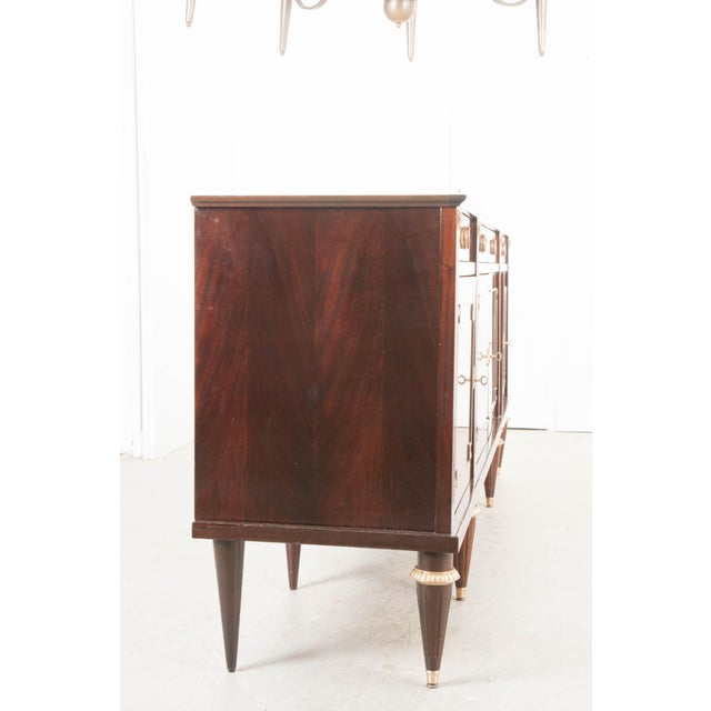 Vintage French Louis XVI Style Mahogany Enfilade For Sale - Image 10 of 12