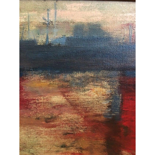 Canvas 1975 Vintage Mid Century Abstract Expressionist Oil Painting, Signed Jesse Jacobs For Sale - Image 7 of 11