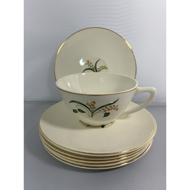 Metal Vintage Forsythia Pattern by Edwin Knowles China Company Dinnerware - 47 Piece For Sale - Image 7 of 13