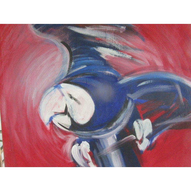 Flying Blue Parrot Original Painting - Image 4 of 6