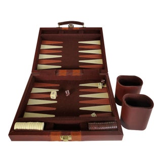 Mid-Century Backgammon Set W/ Magnetic Pieces For Sale