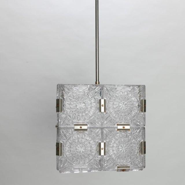 Kalmar Mid Century Kalmar Glass Cube Pendant Light For Sale - Image 4 of 8