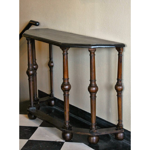 French Antique Console Tables - Pair - Image 4 of 5