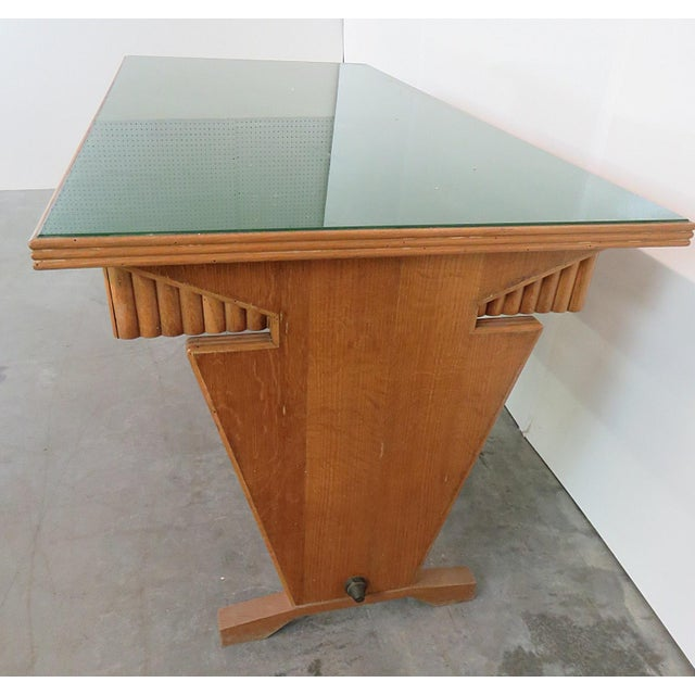 Italian Gio Ponti Style Desk For Sale - Image 3 of 7