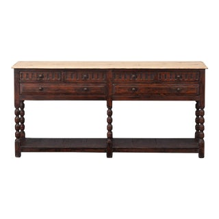 Sarreid Console Table W/ Six Drawers For Sale