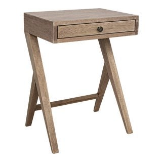 Peter Side Table in Washed Walnut For Sale
