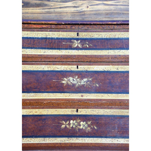 Antique Victorian Country Cottage Hand Painted Chest of Drawers Dresser Commode For Sale - Image 9 of 11