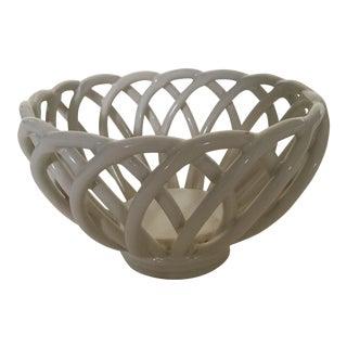 Vintage Pierced Ceramic Bowl