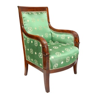 Pair of French Empire Mahogany Bergère Chairs Preview